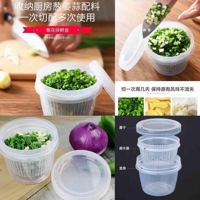 蔥薑蒜香菜 瀝水保鮮盒(一組2入) ❗️8/18收單❗️