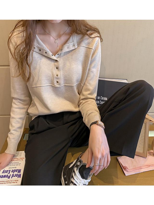 11 XL-4XL 大碼寬鬆長袖薄款毛衣(三色
