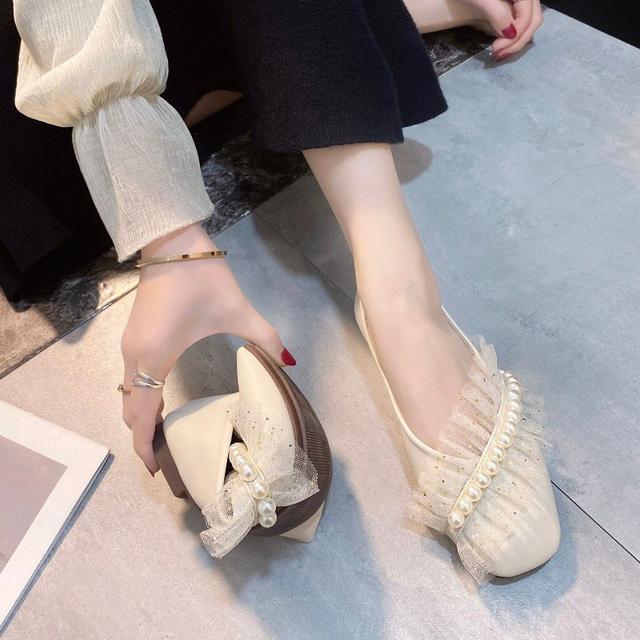 預購春秋新款百搭軟底平底休閒豆豆鞋(希)
