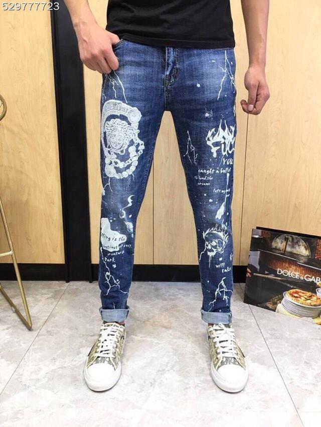 【精品牛仔褲】Versace牛仔褲  凡賽斯牛仔褲