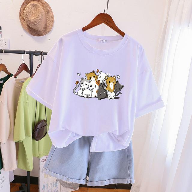 預購  夏季短袖寬鬆纯棉T恤