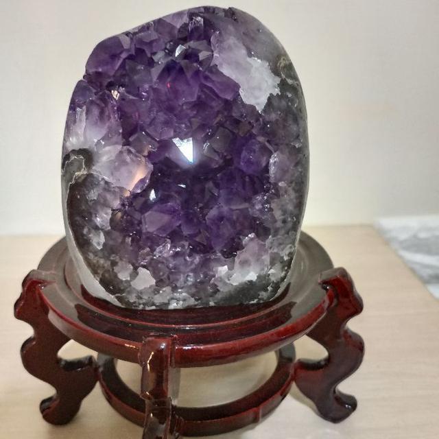 紫晶鎮 1233g 天然水晶 紫水晶 招財 風水 擺飾 晶簇 晶鎮 #A