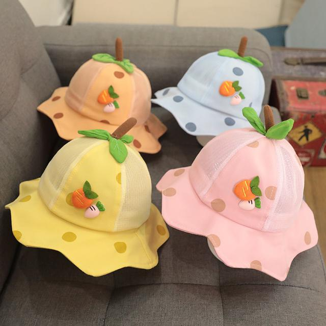 (預購)女童網眼帽夏季渔夫帽