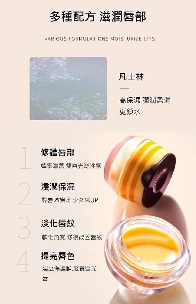 (預購S) A364 - 維尼小熊蜂蜜罐蜂膠唇膜