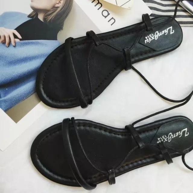 #預購 夏季新款綁帶羅馬鞋