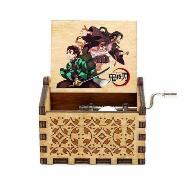 (預購S) G561 - 鬼滅之刃原木手搖式發條音樂盒