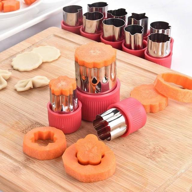 【蔬果餅乾壓花模具】12件組
