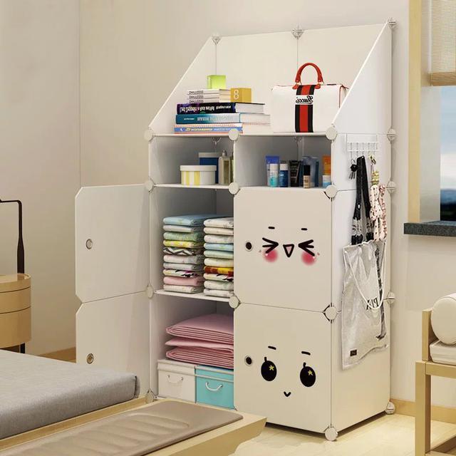 組合衣櫃 收納箱 簡易整理盒 儲物箱子 塑膠式裝衣服 收納納櫃子