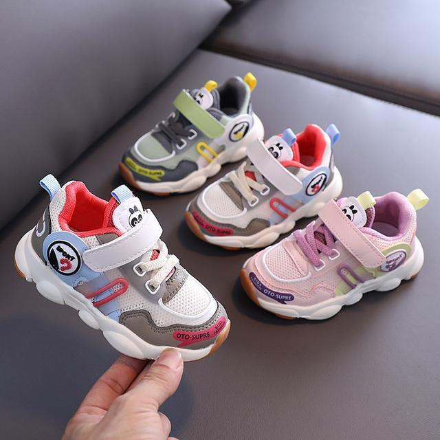 2020秋季新款男女童魔術貼兒童機能運動鞋防滑軟底寶寶學步鞋