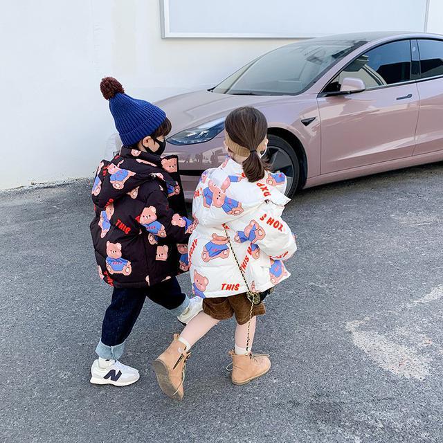 羽絨服2021新款洋氣兒童裝冬季小童加厚白鴨絨外套女孩