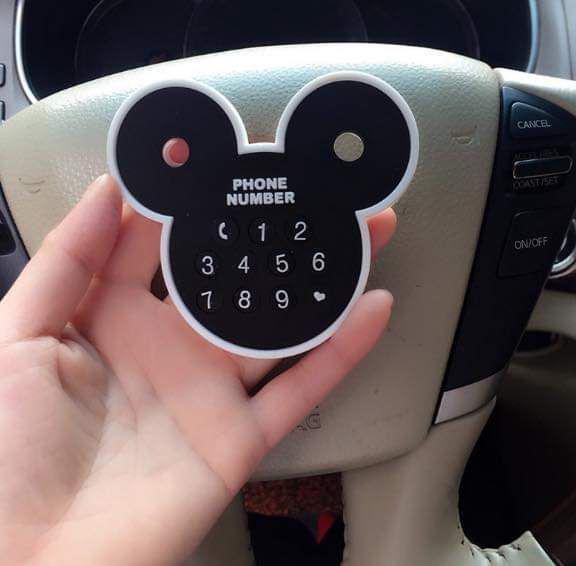 (預購S) 超可愛米奇頭停車號碼卡