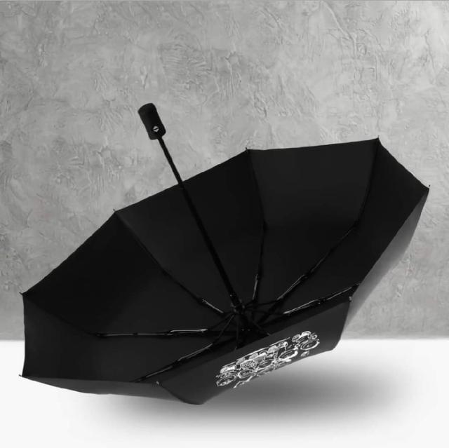 (預購s+) A191-可愛查理卡通黑膠晴雨傘
