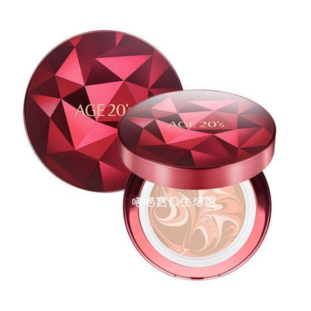 全新第三季 韓國 AGE20 紅寶石 精華液氣墊粉餅~玫瑰鑽石版進化 黃金比例拿鐵拉花 紅潤光澤