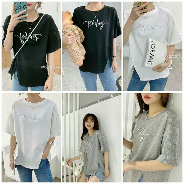 預購7-20天✨韓國釘珠蕾絲高質感棉質上衣