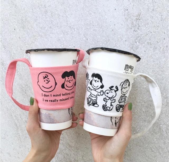 史奴比/查理  韓風 飲料杯套