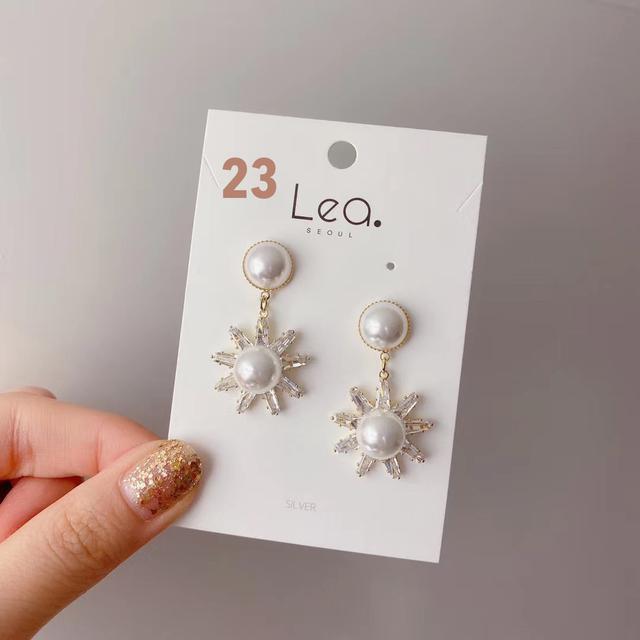 正韓-銀飾耳環