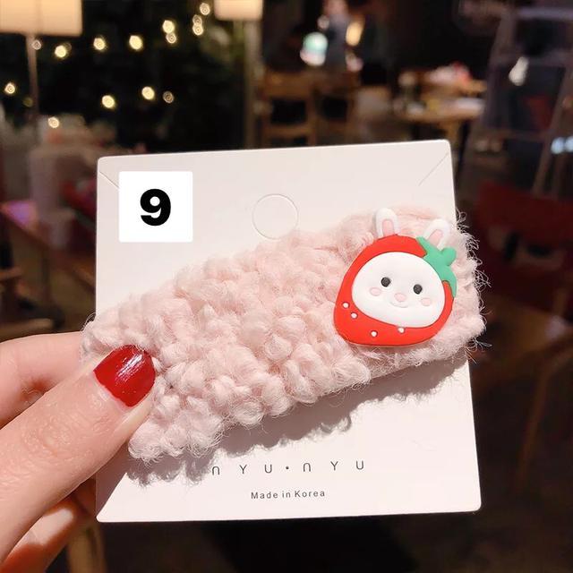 韓國網紅ins發夾超仙羊羔毛夾子森系少女發卡毛絨邊夾超仙卡