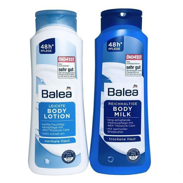 德國 Balea 48H牛奶身體乳 深層滋潤 清爽保濕 500ml 藍 / 白