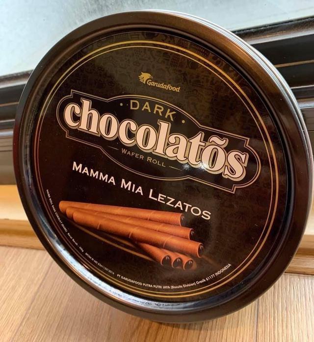 🔥頂級黑雪茄巧克力威化捲迷你捲心酥✨鐵盒大包裝190g🔥