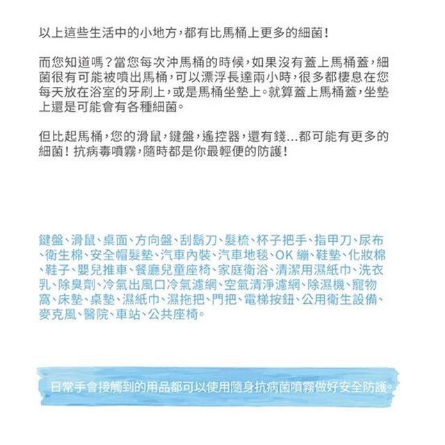 全方位防護 ecohealth 抗病毒抗菌除臭噴霧液(買100ml送20ml)