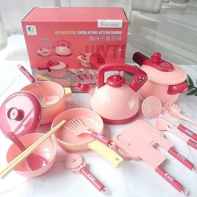 【預購】兒童仿真廚具16件組
