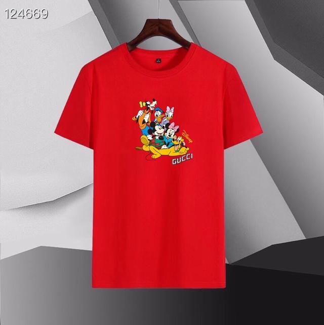 古奇xDisney 2021春款首發 專櫃最新款絲光短袖T恤