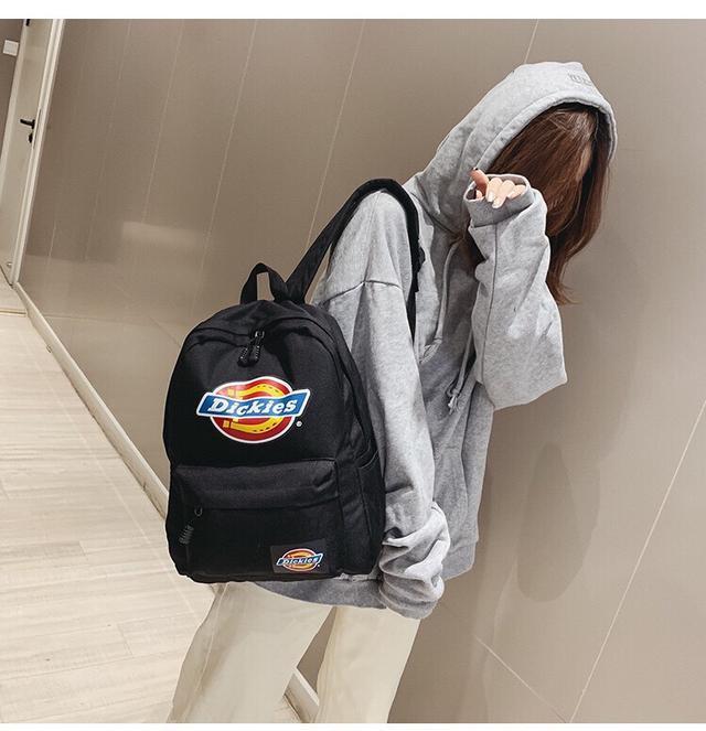 Dickies帝客 男女学生书包 彩色LOGO 大容量双肩包潮人纯色背包