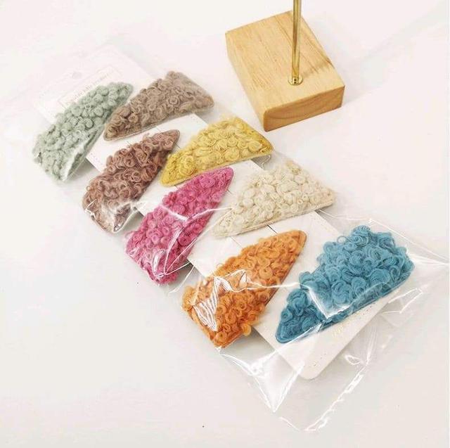 (預購S) 韓國熱銷羊羔毛劉海髮夾8入組
