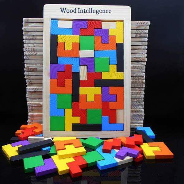 益智力開發兒童早教百變俄羅斯方塊積木拼圖