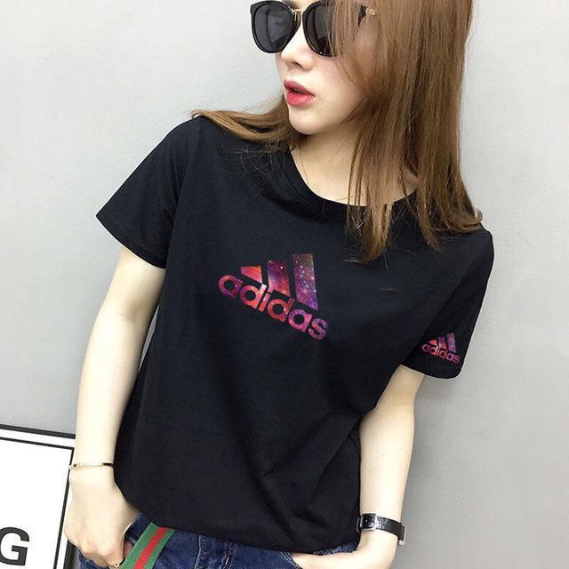 高品質純棉短袖T恤女學生寬松大碼休閒時尚簡約網紅白色新款
