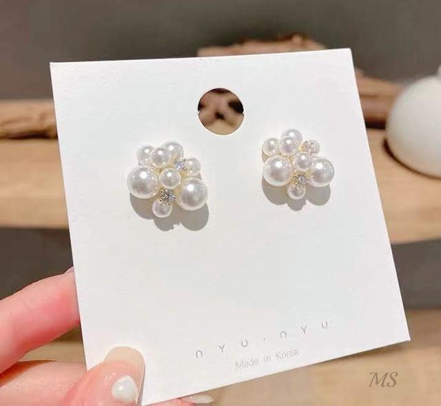 💖預購💖珍珠葡萄串氣質耳環