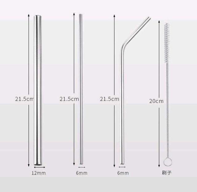(預購S) 不鏽鋼吸管環保5件套裝