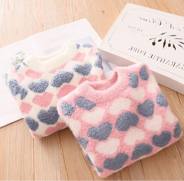 圓領愛心針織毛衣 TP19008