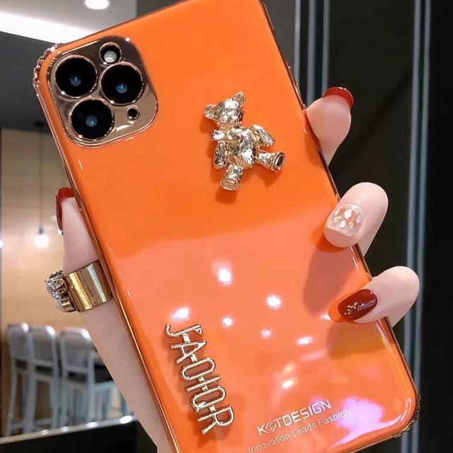 金熊蘋果11手機殼定制硅膠11pro軟套新款可愛7plus情侶xr女8全包X