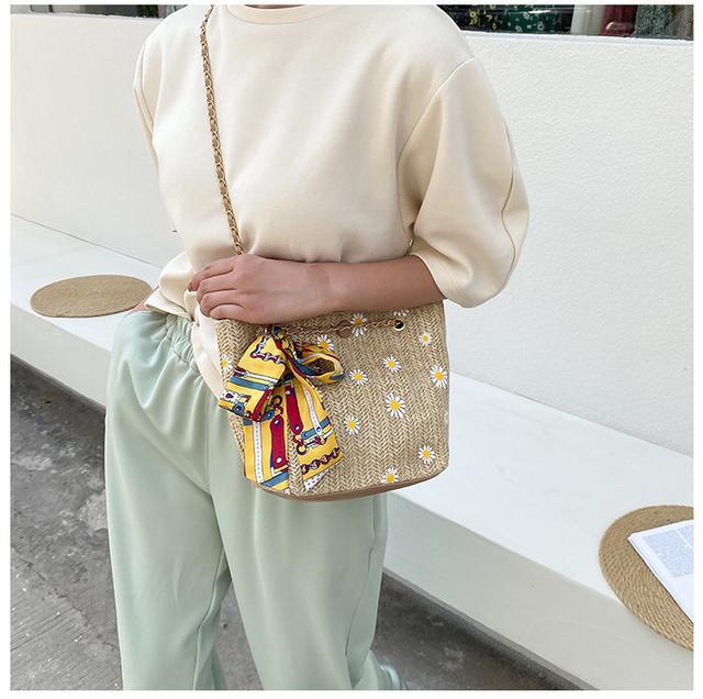 雛菊甜美氣質編織包
