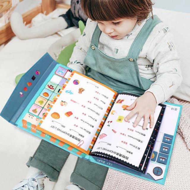 (預購S) G445 - 兒童磁吸購物結帳學習本