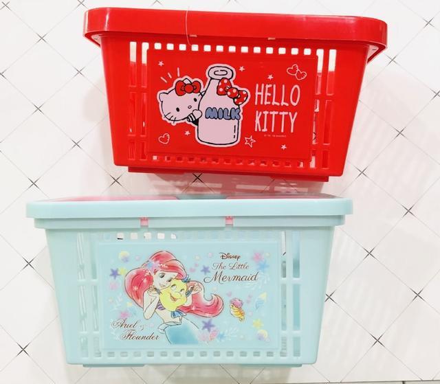 日本三麗鷗迪士尼系列圖案小提籃收納盒