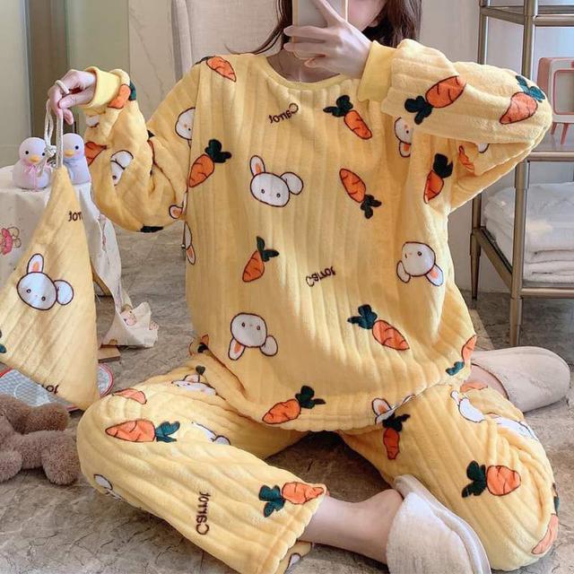 【預購】保暖睡衣套裝3件組