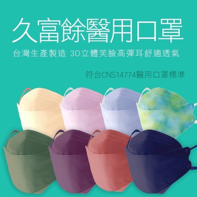 預購 久富餘韓版4層立體成人醫療口罩10入/盒