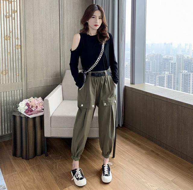 11 流行款 S-L 韓版 上衣+闊腿褲 運動套裝(2色)