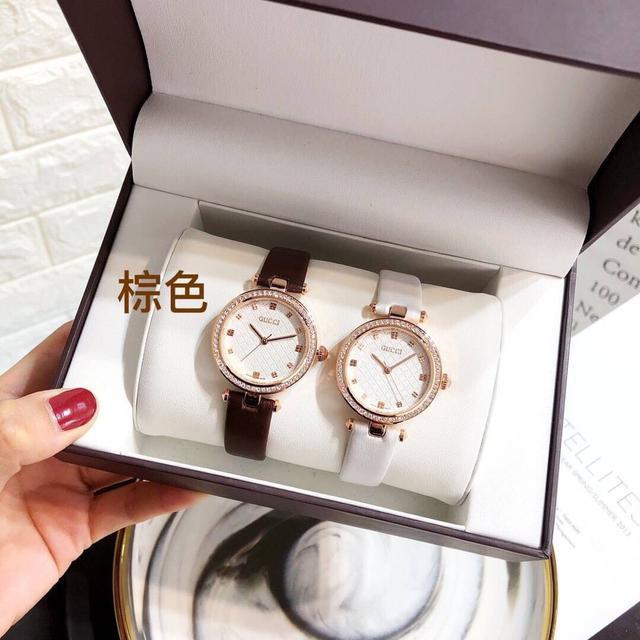 Gucci·經典款·鑽圈32mm~手錶類