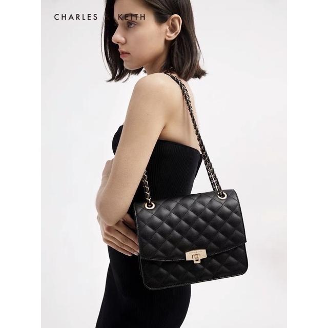 新加坡小ck女包新款潮菱格鏈條包經典百搭高級感小香風單肩斜挎包