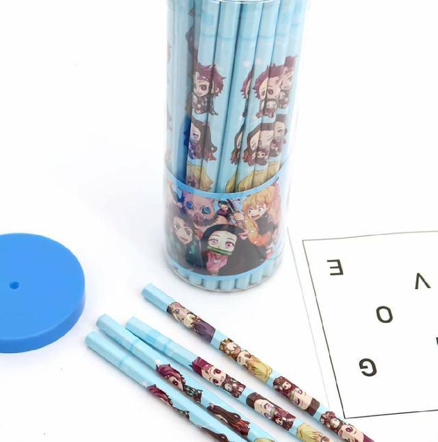 (預購s+) A068-鬼滅之刃50支桶裝HB鉛筆