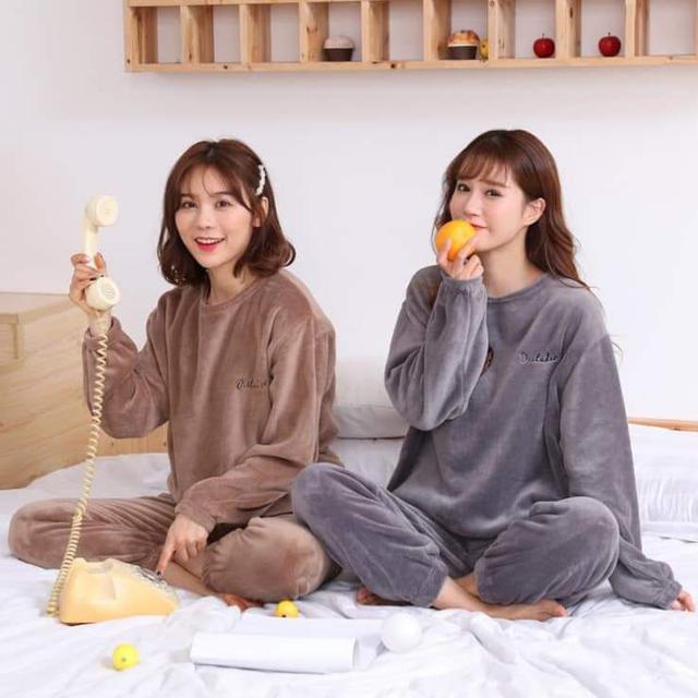 (預購S) 居家珊瑚絨暖暖睡衣套裝