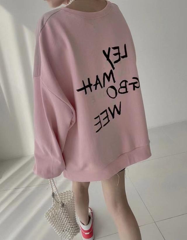 歐美字母印花雙質料衣