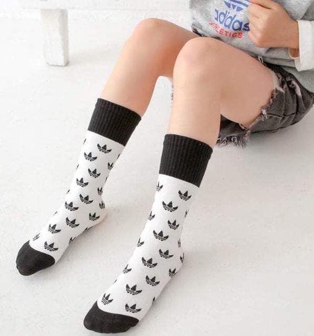 (預購S) B091 - 秋冬兒童三葉草中高筒小腿襪3雙組