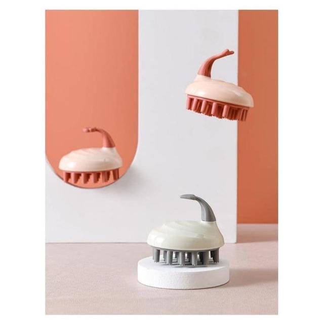 #預購G988 - 矽膠氣囊按摩清潔洗頭刷(一組3l個)