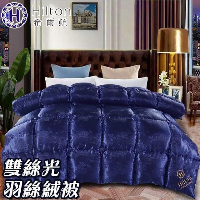 現貨【Hilton希爾頓】皇家克莉絲汀雙絲光羽絲絨被2.5KG-藍