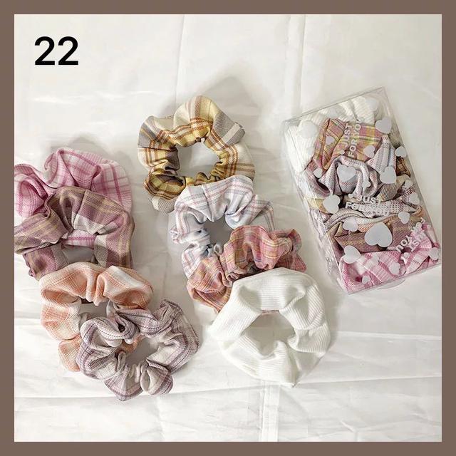 027系列髮圈森女系盒裝一套精品店發飾韓國東大門新款水果頭繩女