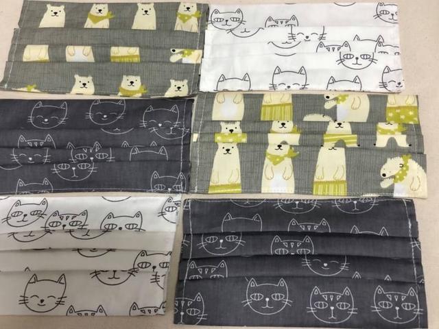 台灣手工製造 口罩防護套(棉布花布款)